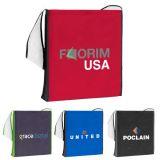 Custom Printed Color Block Shoulder Tote Bags