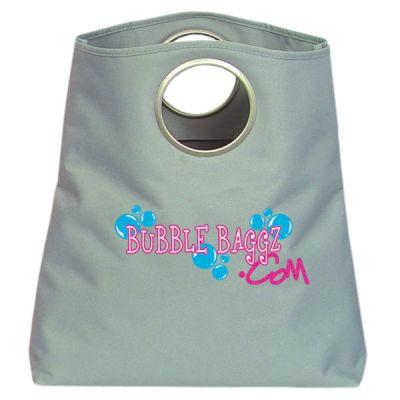 Logo Imprinted Metal Ring Polyester Tote Bags