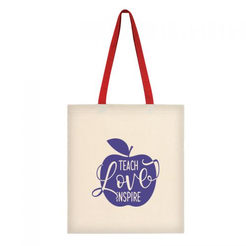 Eco Friendly Custom Canvas Tote Bags w/ Contrast Handles