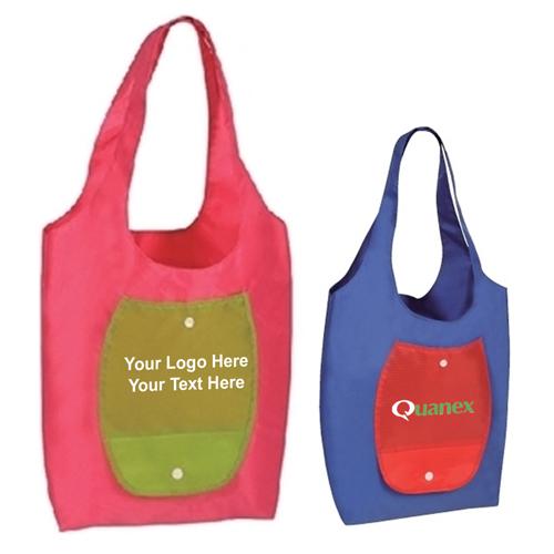Custom Ripstop Nylon Folding Shopper Tote Bags Grocery