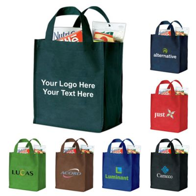 Custom Printed Mark Polytex Deluxe Grocery Tote Bags