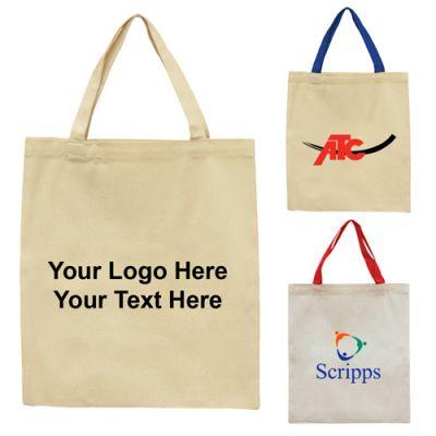 Customized Dora Medium Canvas Flat Tote Bags