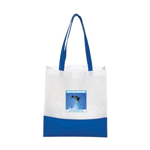 Custom Non-Woven Bottom Stripe Tote Bags - Non-Woven Tote Bags 87d3b6fe804b6