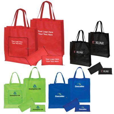 Custom Non-Woven Magic Folding Shopping Totes Bags