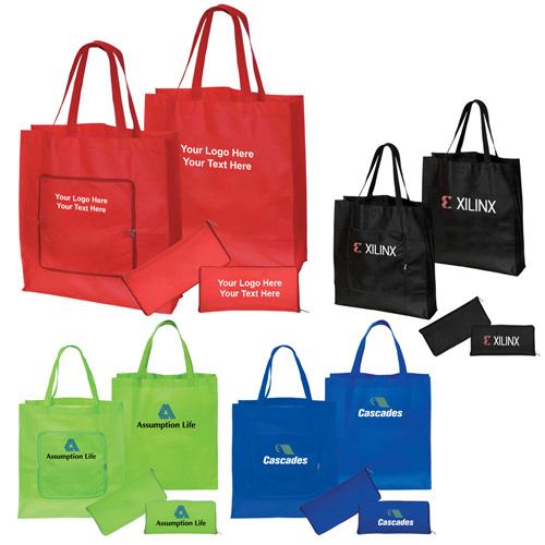 23be7573784c Custom Non-Woven Magic Folding Shopping Totes Bags - Non-Woven Tote Bags