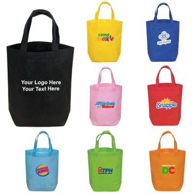 Logo Imprinted Mini Non Woven Polypropylene Tote Bags