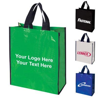 Logo Imprinted Woven Polypropylene Tote Bags