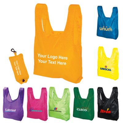 Promotional Folding Tote Bags In a Pouch