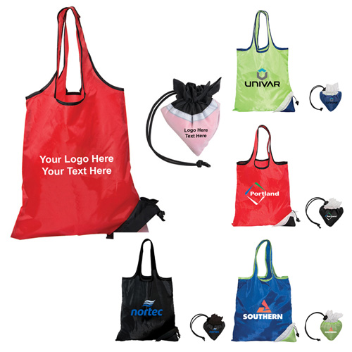 c89a2c68cdf4 Promotional Logo Folding Polyester Tote Bags - Polyester Tote Bags