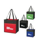 Custom Lami-Combo Shopper Non-Woven Tote Bags