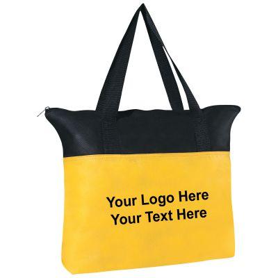Custom Printed Non-Woven Zippered Tote Bags - Non-Woven Tote Bags