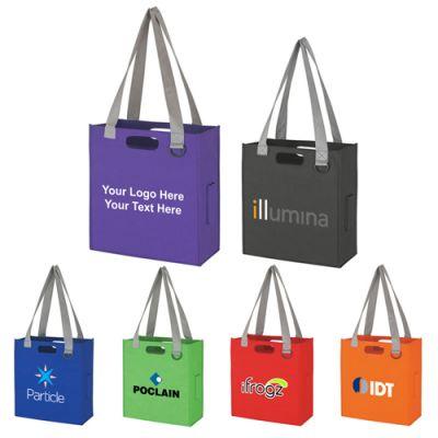 Logo Imprinted Non-Woven Expedia Tote Bags