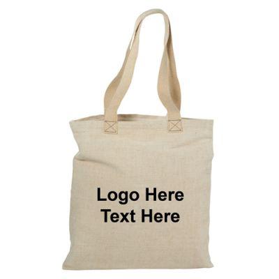16x15 Inch Custom Alternative Jute Shopper Tote Bags