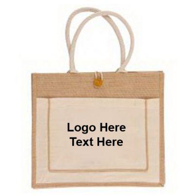 Custom Imprinted Eco-Green Jute Tote Bags