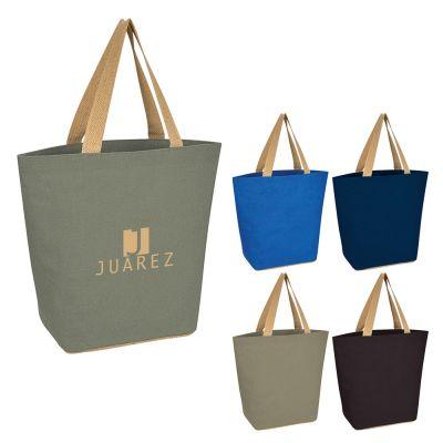 Custom Imprinted Marketplace Jute Tote Bags