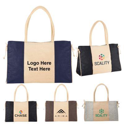 Custom Imprinted Mini Resort Jute Tote Bags