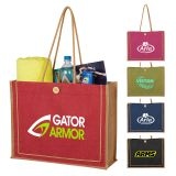 Custom Imprinted Paradise Jute Tote Bags
