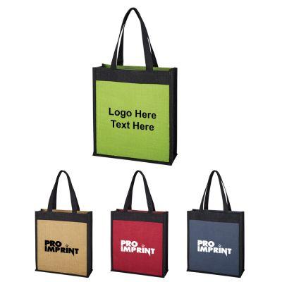 Custom Printed Laminated Jute Tote Bags