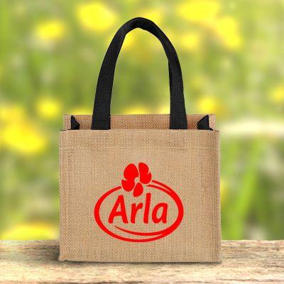 Promotional Logo Mini Jute Gift Tote Bags