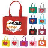 Promotional Medium Heart Tote Bags