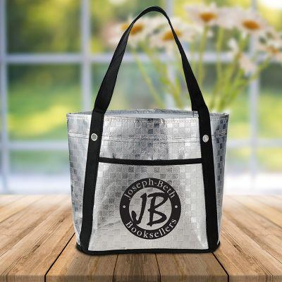 Custom Imprinted Metallic Mini Gift Tote Bags - Promotional ...