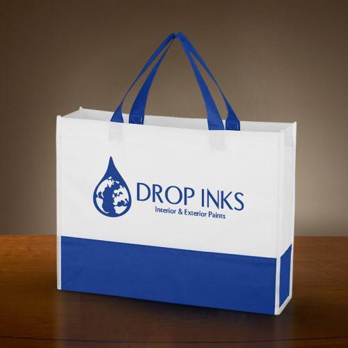 2187510885 Custom Printed Non-Woven Prism Tote Bags - Non-Woven Tote Bags