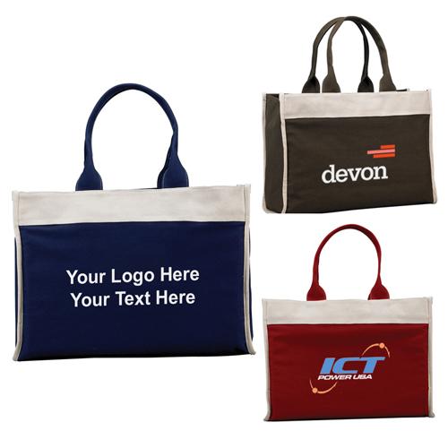 Logo Box Shaped Tote Bags