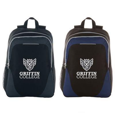 Custom Imprinted 15 Inch Reflective Stripe Computer Backpacks