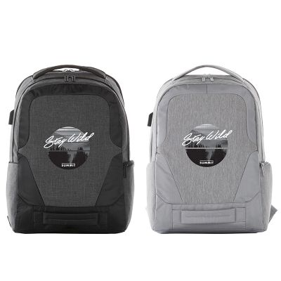 Custom Imprinted Overland 17 Inch TSA Computer Backpacks with USB Port