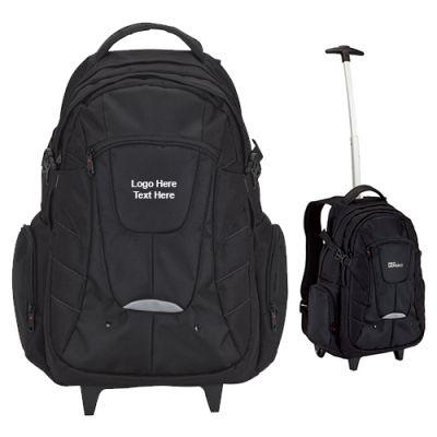 Custom Printed Ancona Rolling Backpacks