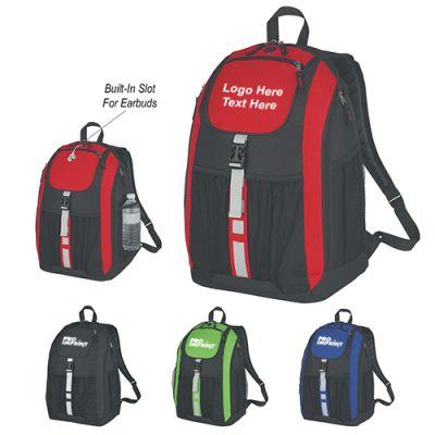Custom Printed Deluxe Polyester Backpacks