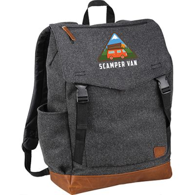 Custom Printed Field and Co. Campster Wool 15 Inch Rucksack Backpacks