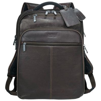 Custom Printed Kenneth Cole Colombian Leather TSA Computer Backpacks