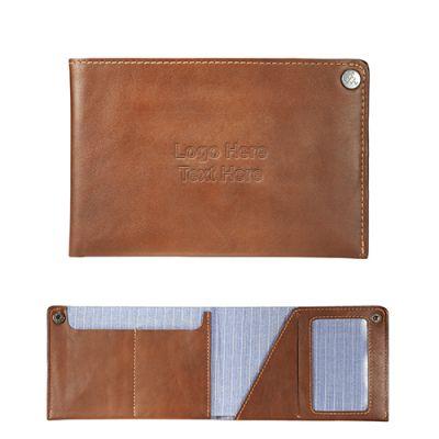 Custom Imprinted Alternative Leather Travel Wallet