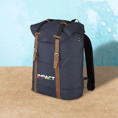 Custom Buckled Flap Drawstring Backpacks