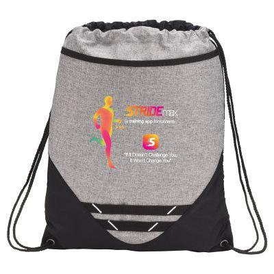 Custom Imprinted Graphite Hook Drawstring Bags