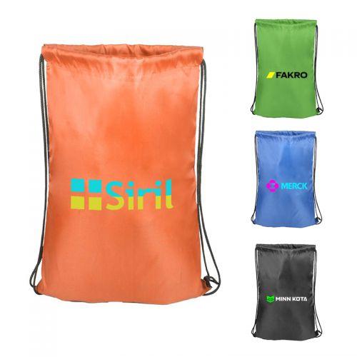 Imprinted Hillsboro Drawstring Bags