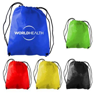 Custom Imprinted Recruit Non-Woven Drawstring Backpacks