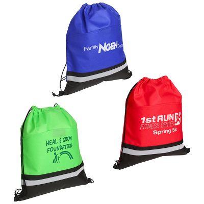 Custom Imprinted Safety Drawstring Bags