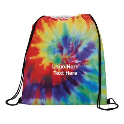 Custom Imprinted Tie Dye Drawstring Sportspack