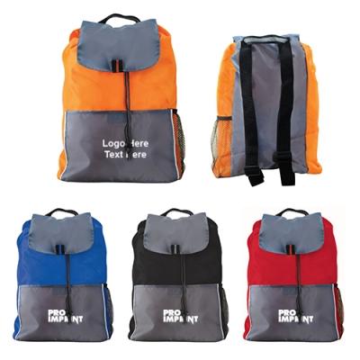 Custom Printed Adventure Drawstring Backpacks