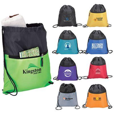 Custom Printed Ceduna Polyester Sport Drawstring Bags