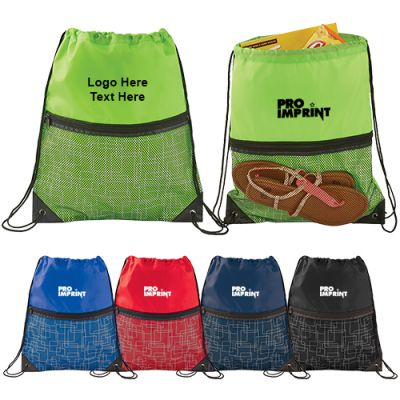 Custom Printed Mesh Drawstring Sportspacks