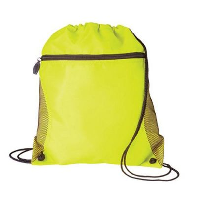 Custom Printed Mesh Pocket Drawcord Bags