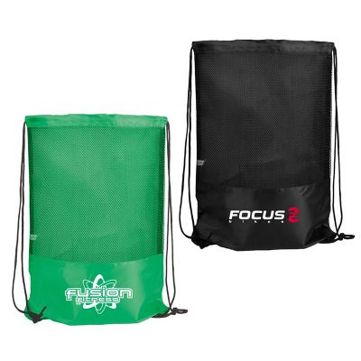 Custom Printed Primera Polyester Drawstring Bags