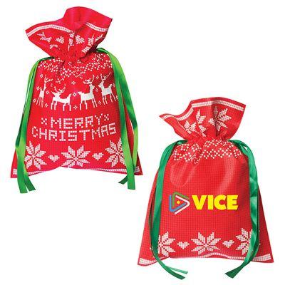 Custom Printed Small Non Woven Holiday Gift Bags
