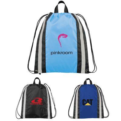 Custom Printed Small Reflective Drawstring Sportspack