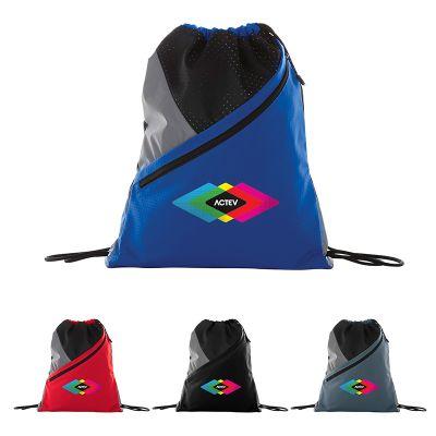 Custom Slazenger Competition Zip Drawstring Bags
