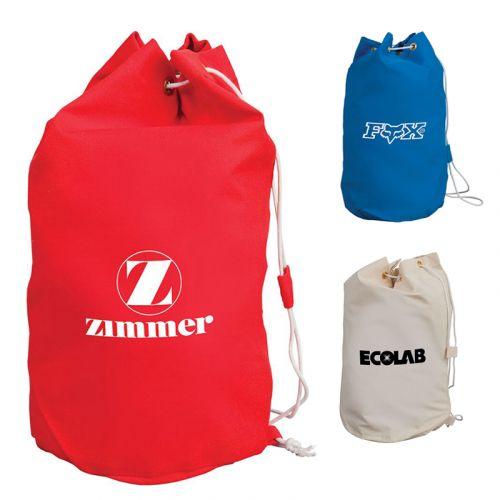 Customized Drawstring Cotton Barrel Bags