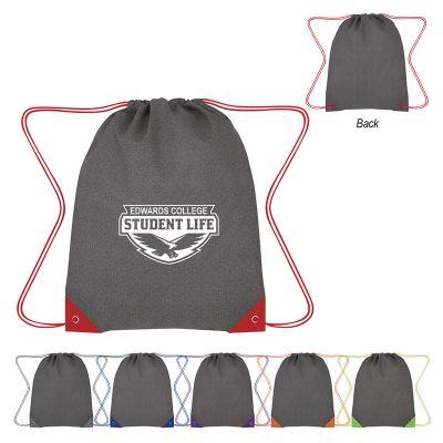 Customized Grayson Non-Woven Drawstring Bags
